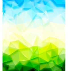 Triangle nature background vector image vector image