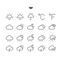 weather ui pixel perfect well-crafted thin vector image