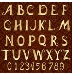 gold font on a vintage background vector image
