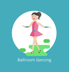 icon of ballroom dances vector image