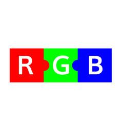 rgb color scheme puzzle vector image vector image