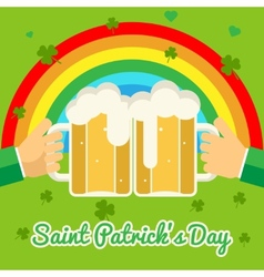 Saint Patricks Day Celebration Success and vector image vector image