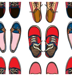 Seamless pattern with Sport shoes vector image