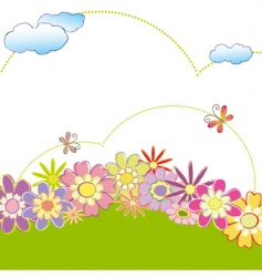 spring summer greeting card vector image vector image