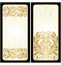Two vintage greeting cards vector image