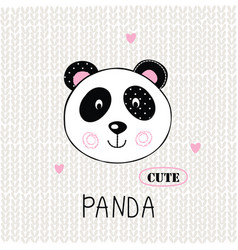 with cute panda vector image