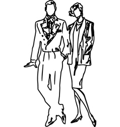 Boys and girls couples vector