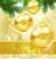 Merry Christmas and New Year Background for vector image