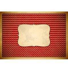 Red vintage frame with wave pattern vector image vector image