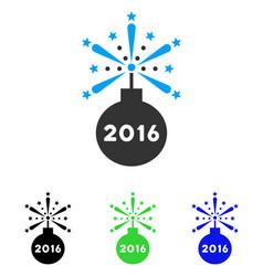 2016 fireworks detonator flat icon vector
