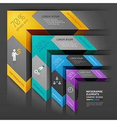 3d arrow staircase diagram business template vector