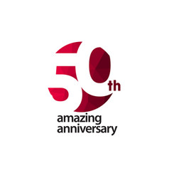 50 th amazing anniversary celebration template vector