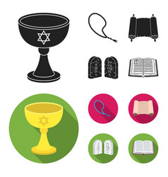 A cup of wine islamic beads ten commandments vector