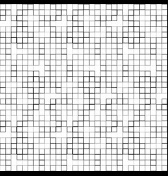 Abstract geometric mosaic pattern simple seamless vector