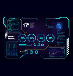 abstract hud ui gui future futuristic screen vector image