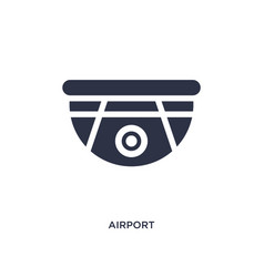 airport security camera icon on white background vector image