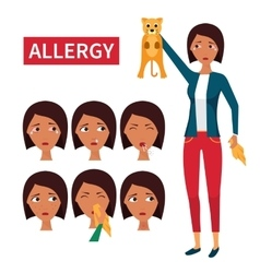Allergy symptoms information vector