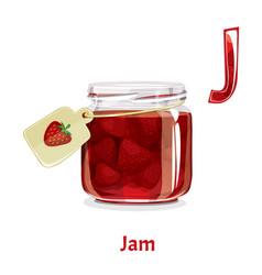 alphabet letter j jam vector image