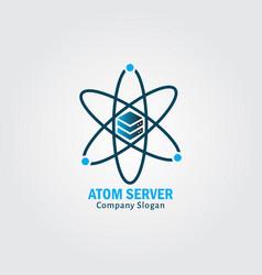 atom server vector image