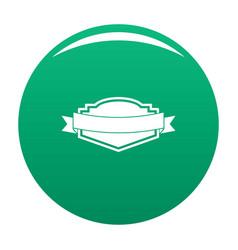 badge label icon green vector image