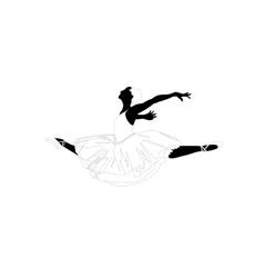 ballerina in a jump vector image