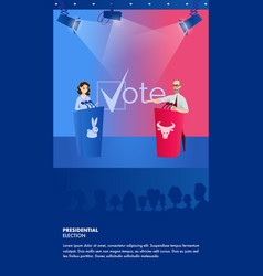 Banner debate presidential elections vector