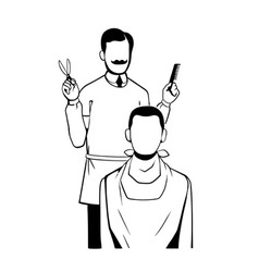 barber vector image