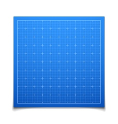 Blue isolated square grid with shadow vector