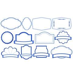 Blue labels vector image