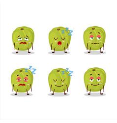 Cartoon character amla with sleepy expression vector