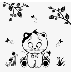 cat cute vector image