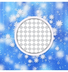 Christmas and New Year blue blurry background vector