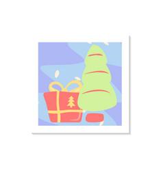 Christmas holiday celebration social media post vector