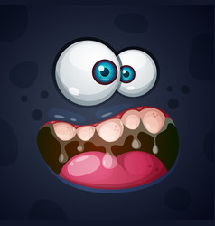 Cute funny crazy monster character halloween vector