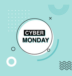 cyber monday advertising banner sale design vector image
