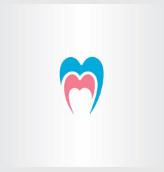dentist tooth logo symbol element vector image