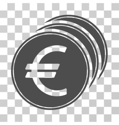 Euro Coins Icon vector