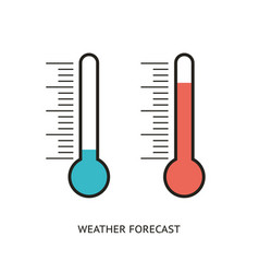 Flat design icons of thermometer vector
