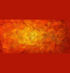 flat design red triangle background vector image