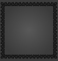 Floral fine frame vector