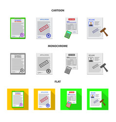 Form and document sign set vector