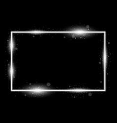 frame with light effects white color vector image
