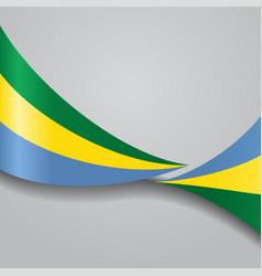gabon wavy flag vector image