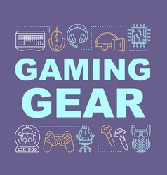 Gaming gear word concepts banner vector