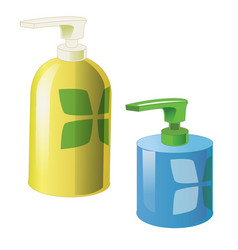 gel foam or liquid soap dispenser pump plastic vector image vector image