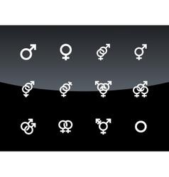 Gender symbol on black background vector
