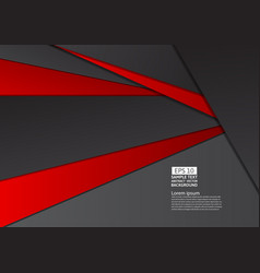 geometric abstract background red and black color vector image