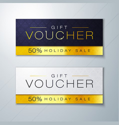 gift voucher template with golden premium pattern vector image