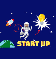 global business development planning vector image