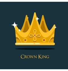 Golden king crown or retro monarch headdress vector image